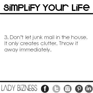 No Junk Mail!
